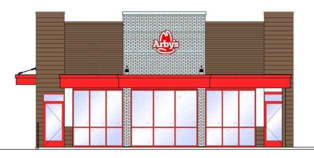 arbys proposed front elevation