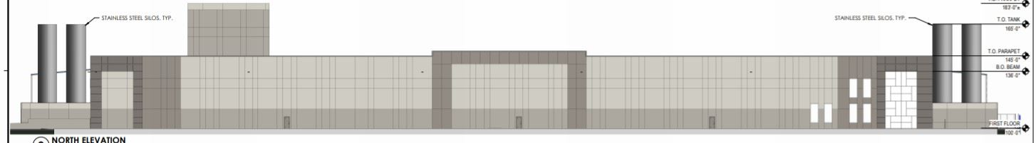 North elevation of proposed amended Granite REIT building