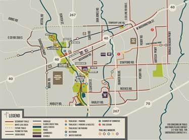 Plainfield Trails Map (PDF) Opens in new window